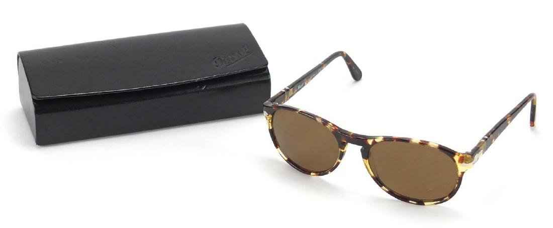 Persol tortoiseshell design sunglasses with case