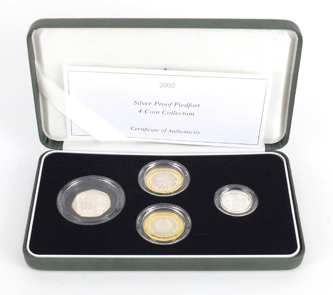 2005 United Kingdom silver proof Piedfort collection