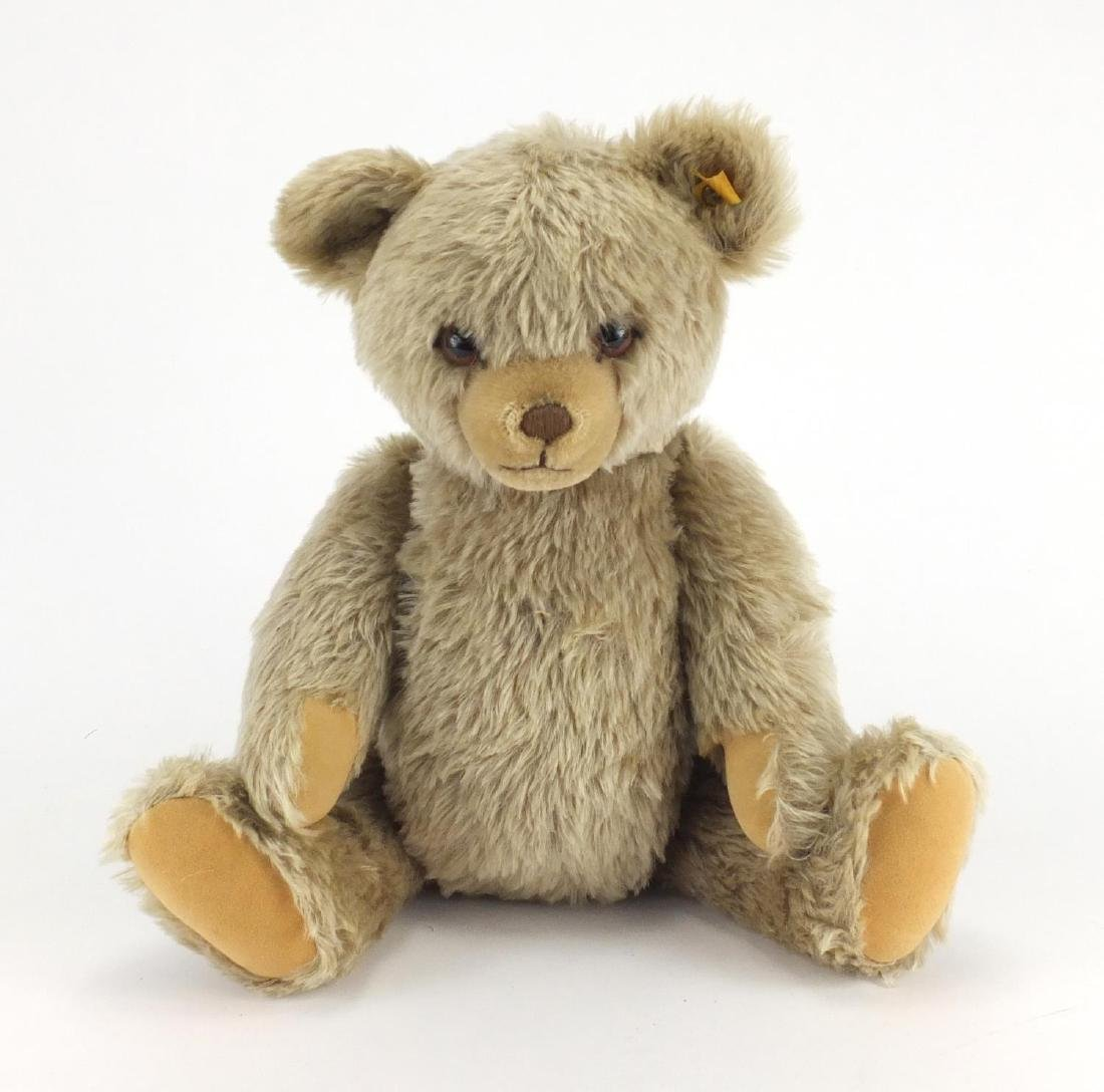 Large Steiff bear with growler and button to one ear, 49cm high