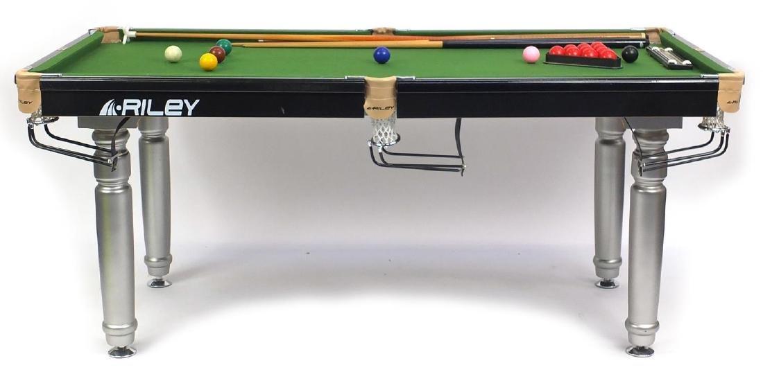 Riley snooker table, 80cm H x 180cm L x 90cm W