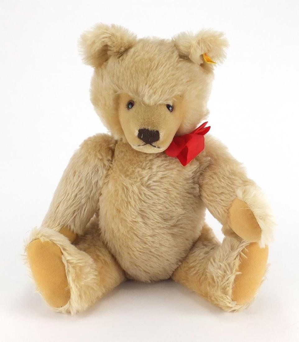 Large Steiff bear with beaded eyes and button to one ear, 52cm high