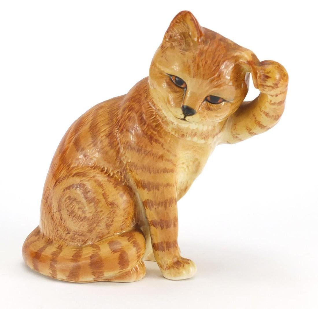 Beswick model of a seated ginger cat, number 1877, 16.5cm high