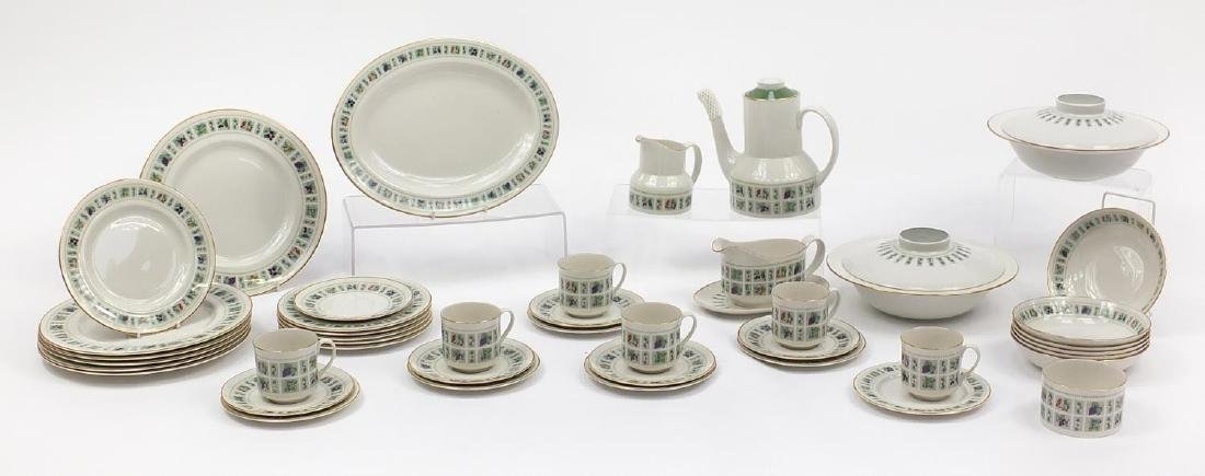 Royal Doulton tapestry dinner and teaware including lidded tureens and coffee pot