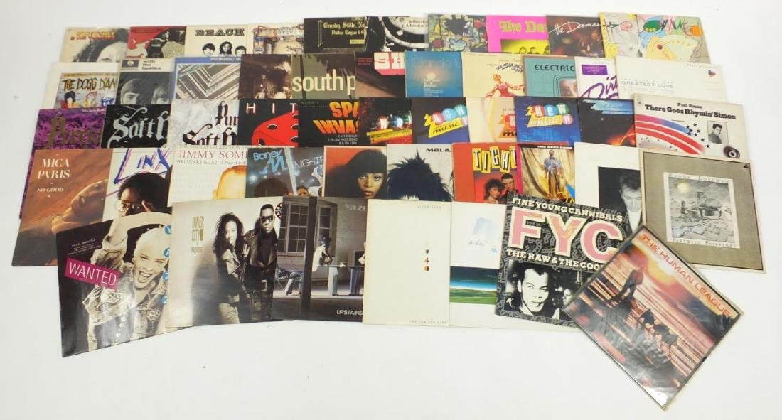 Vinyl LP's including The Beatles, Led Zeppelin, Bob Marley, compilations and Pop