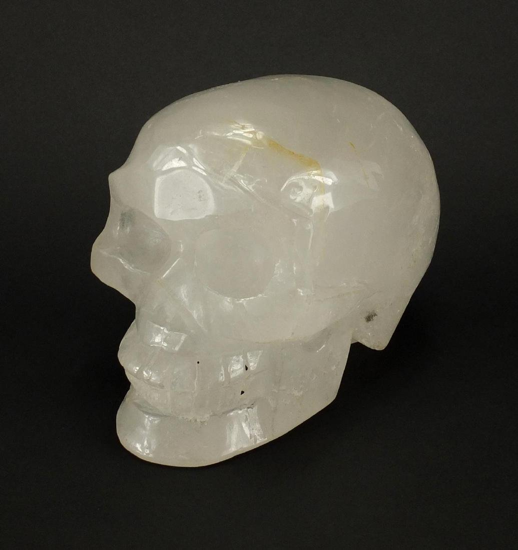 Large rock crystal skull, 15cm high
