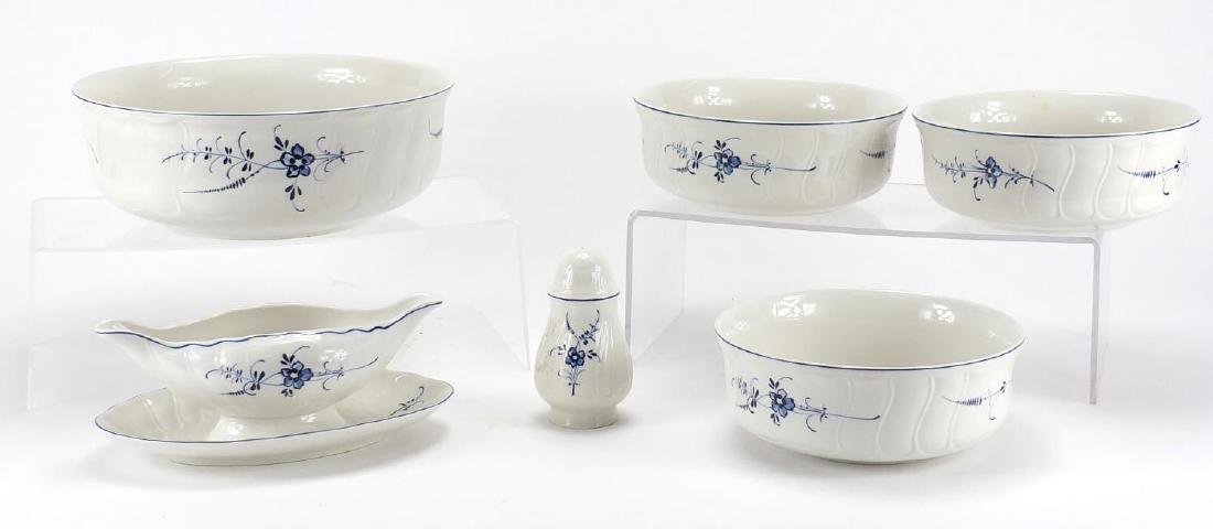 Villeroy and Boch Vieux Luxembourg porcelain including four bowls, the largest 24.5cm in