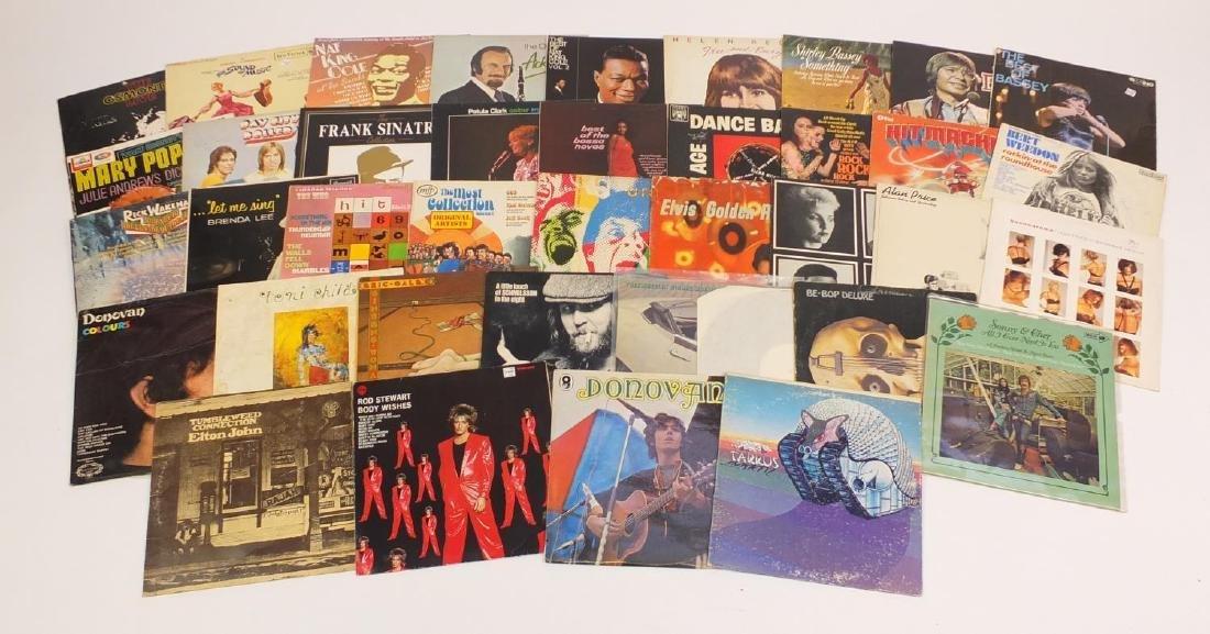 Vinyl LP's including Tarkus, Donovan, Elton John and Eric Gale