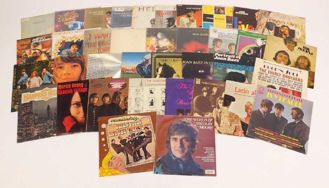 Vinyl LP's including The Beatles, Peter Tosh, Santana, Jethro Tull and Ivy League