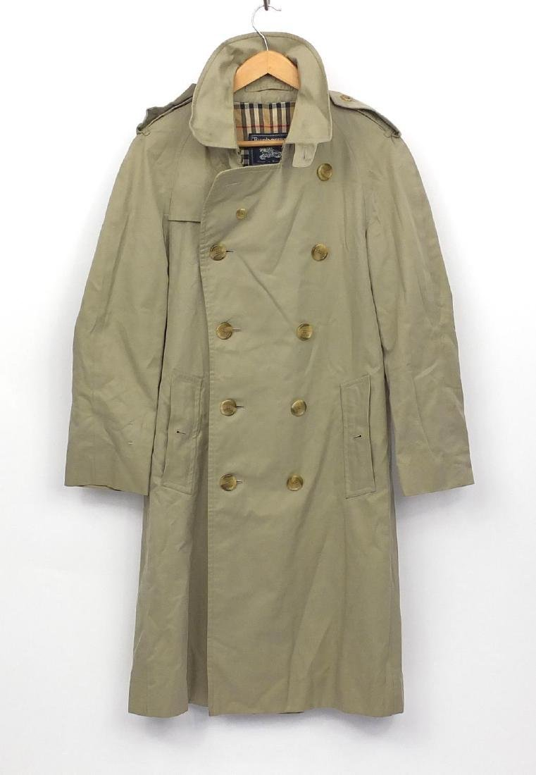 Gentleman's Burberry's full length trench coat