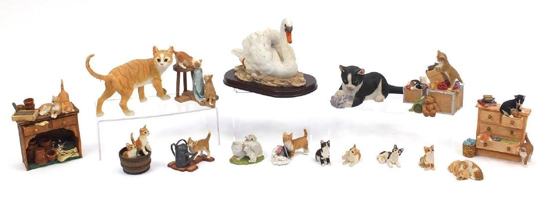 Predominantly Sherratt & Simpson model cats including Kittens with chest of drawers 55555 and