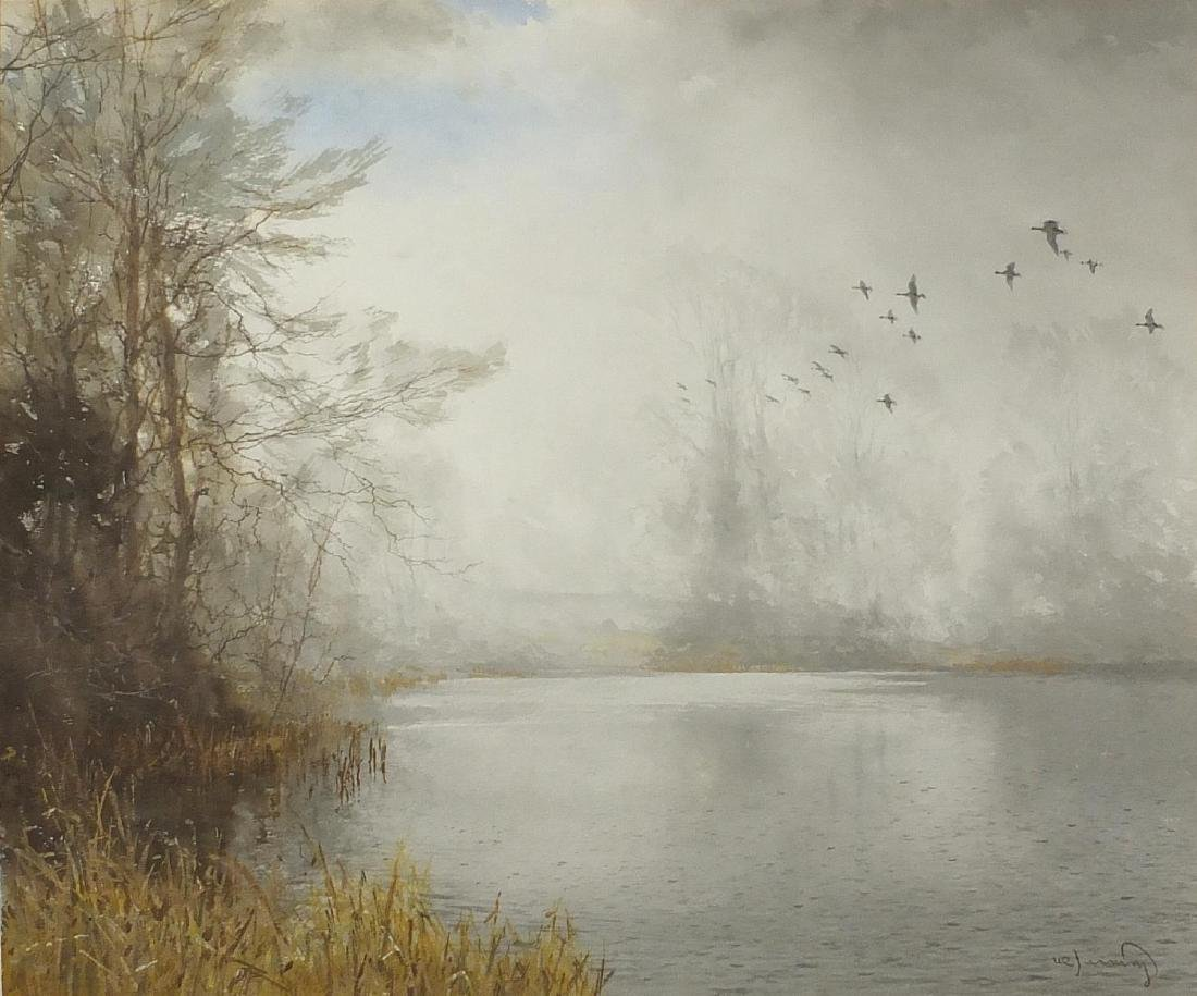 Walter Robin Jennings - The Mallards River, watercolour, inscribed label verso, mounted and
