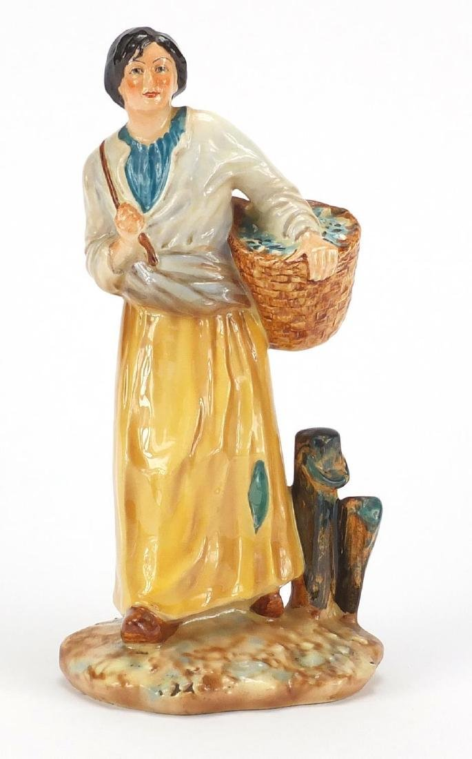 Falcon Ware figurine of The Breton Girl, 22cm high