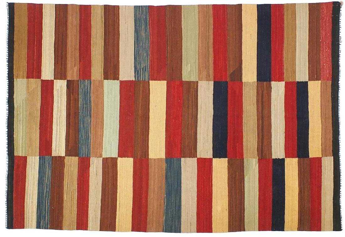 Rectangular Turkish Kilim rug, having an all over geometric design, 233cm x 179cm