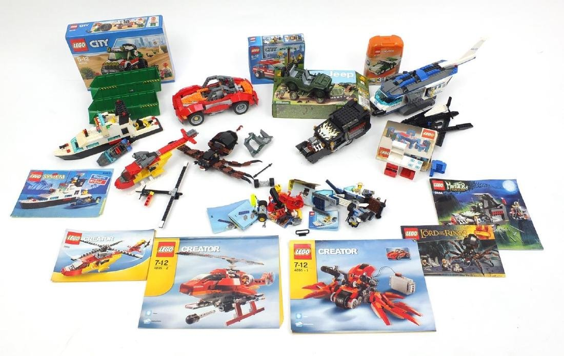 Vintage Lego and City including Lord of the Rings and police helicopter