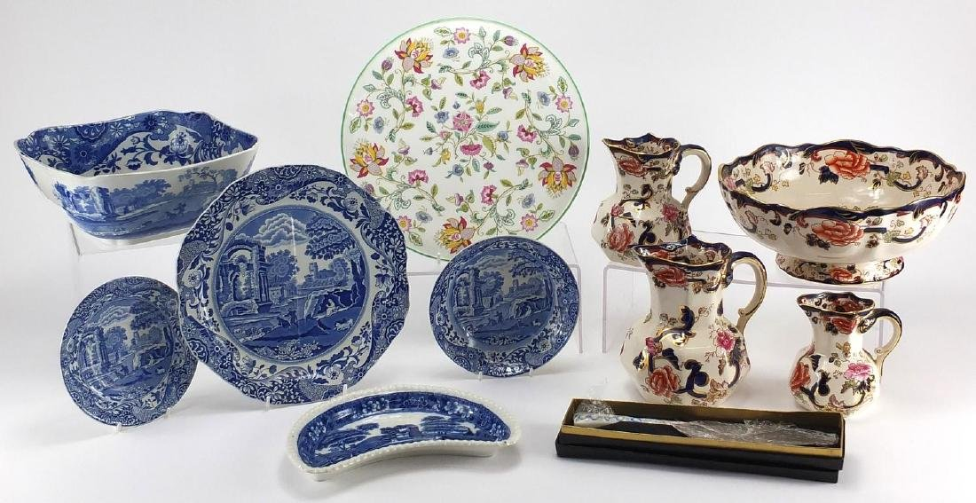 Collectable china including Copeland Spode Italian, Masons Mandalay and Minton's Haddon Hall