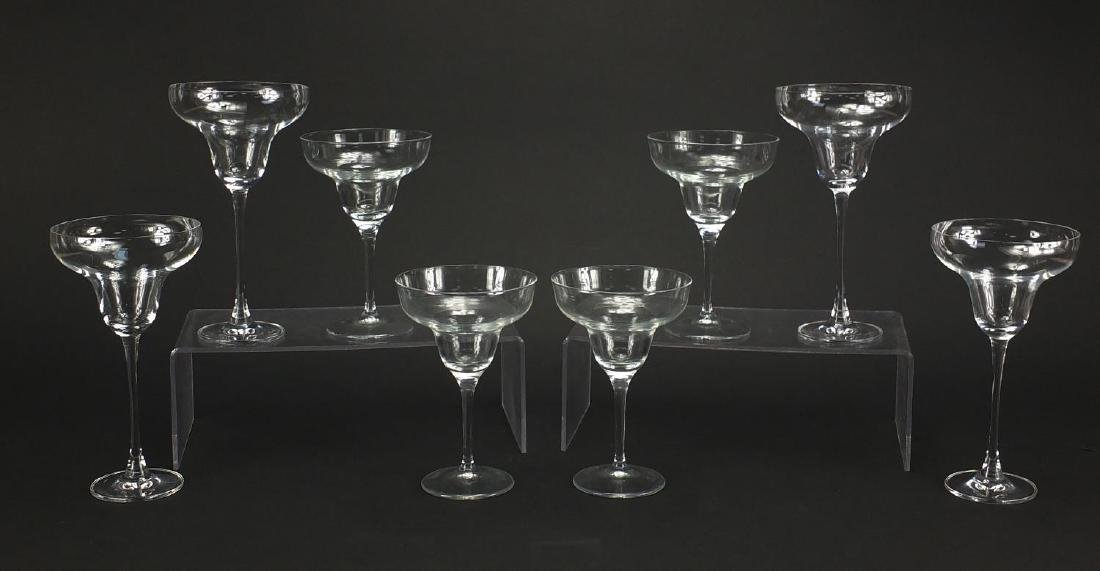 Two sets of four glasses including Lenox Tuscany Classics Collection, the largest 22cm high