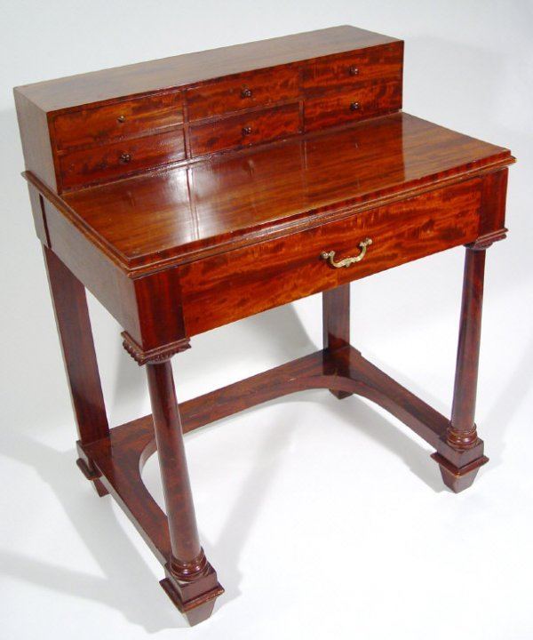 19: Empire style mahogany dressing table, the superstru
