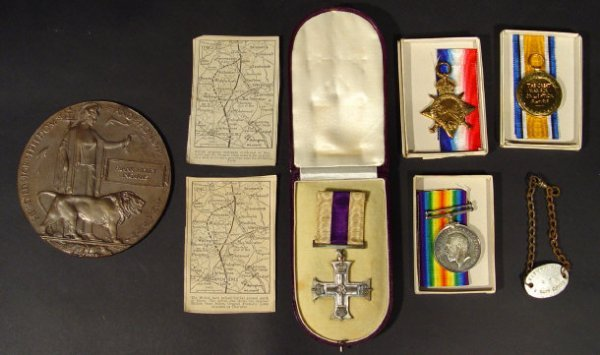 773: World War I Military Cross Medal group comprised 1