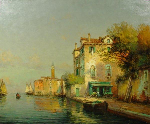 983: Bouvard - 'The Flower Sellers' - Oil onto canvas o