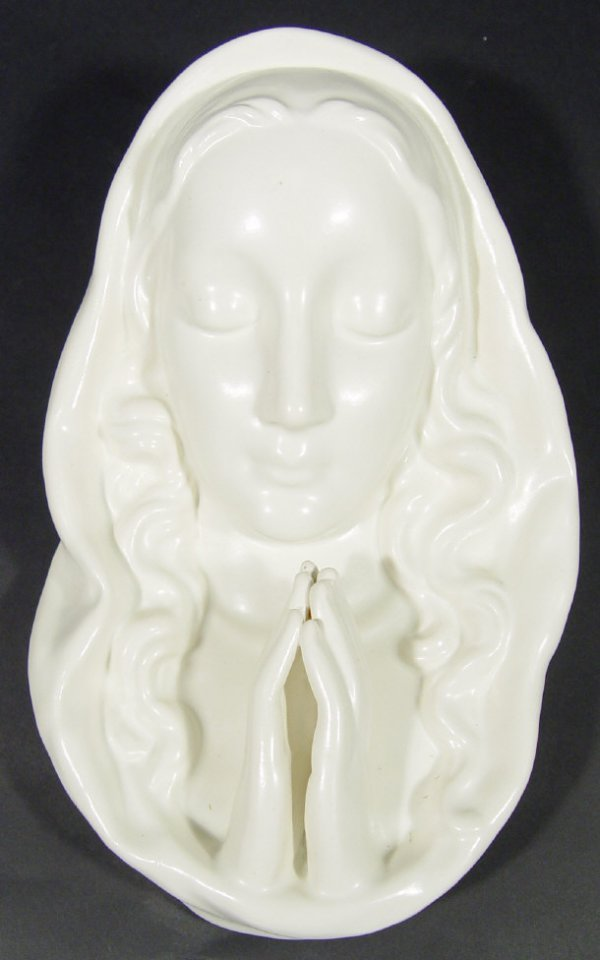 1215: Goebels china madonna wall mask with white glazed