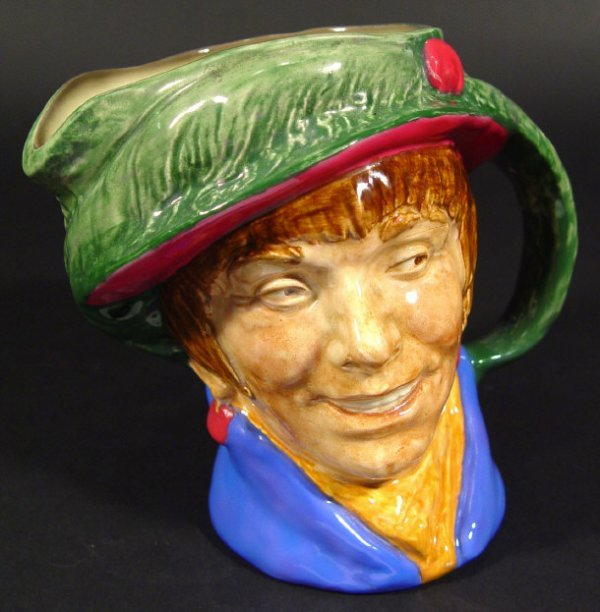 1253: Royal Doulton character jug 'Arriet, with hand pa