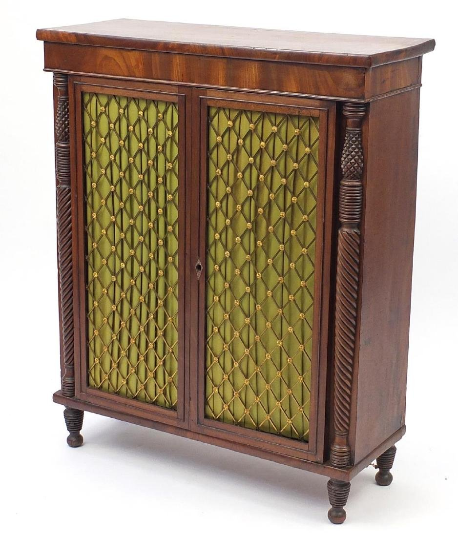 George IV mahogany chiffonier of small proportions,