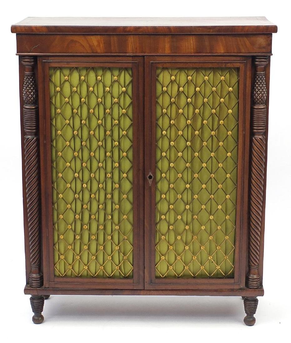 George IV mahogany chiffonier of small proportions, - 2
