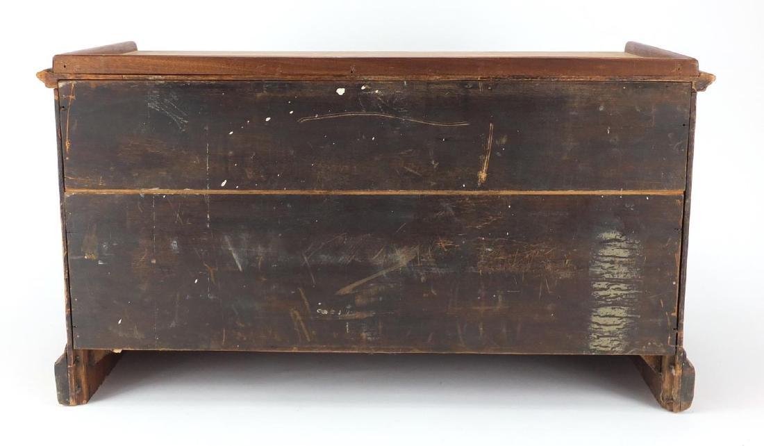 Nine drawer oak filing chest with brass handles, 34cm H - 4