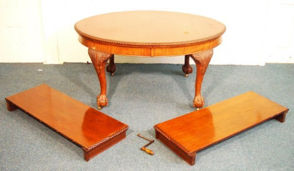 5: Victorian mahogany D-end extending dining table with