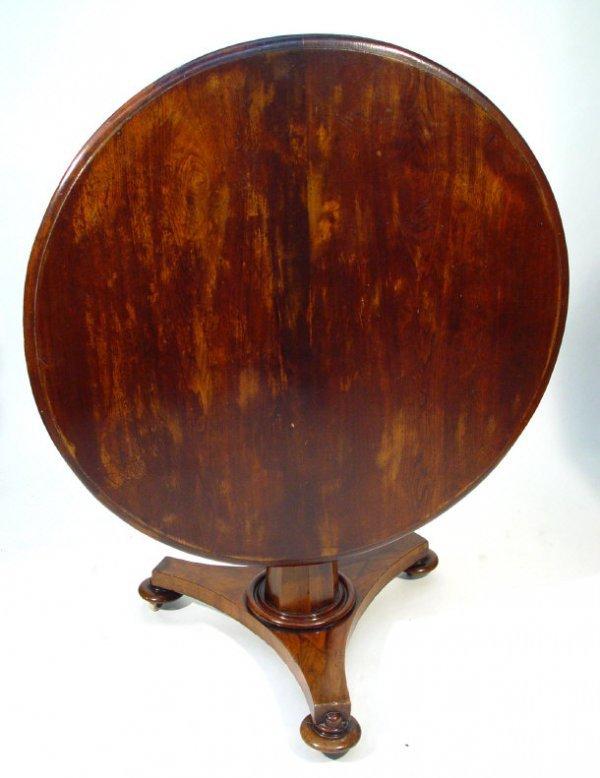 11: Victorian circular walnut snaptop breakfast table w