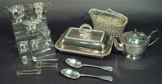 925 Selection of silver and silver plated items includ