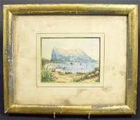 1108: Small unsigned watercolour, (believed to be the R