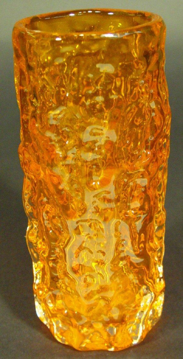 1202: Whitefriars tangerine bark glass vase, 19cm high