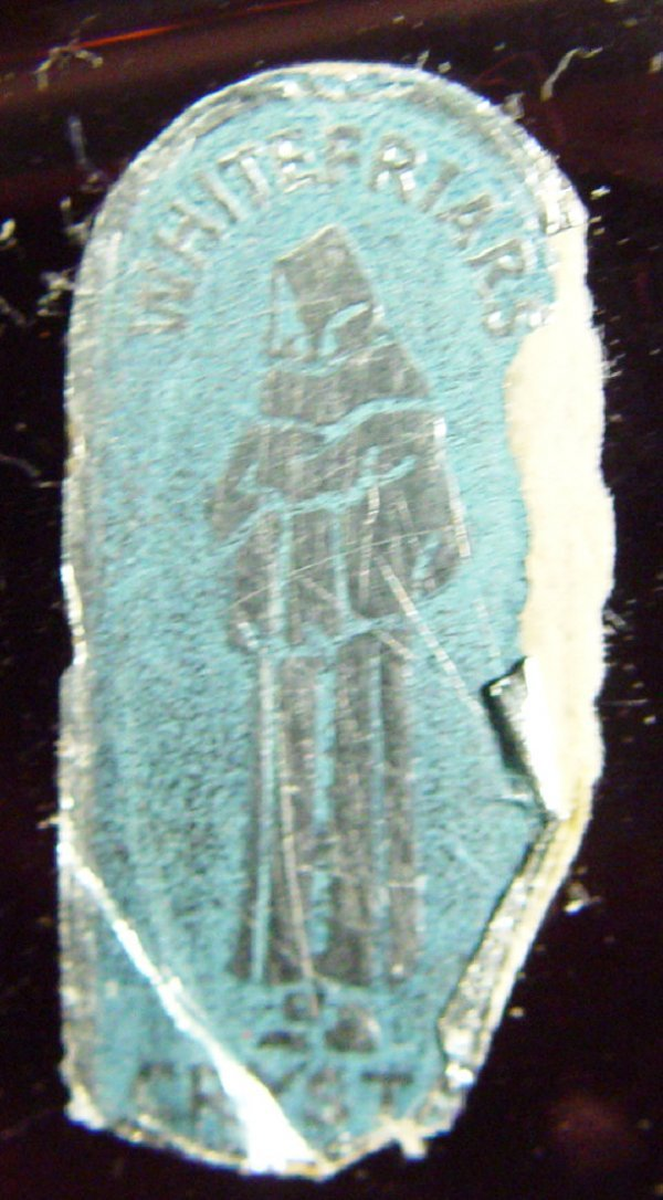 1207: Whitefriars amethyst ribbon trailed glass vase wi