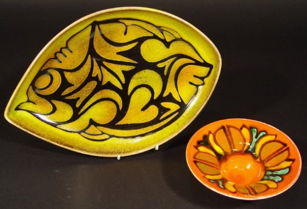 1219: Poole Pottery Delphis bowl and an oval Aegean pla