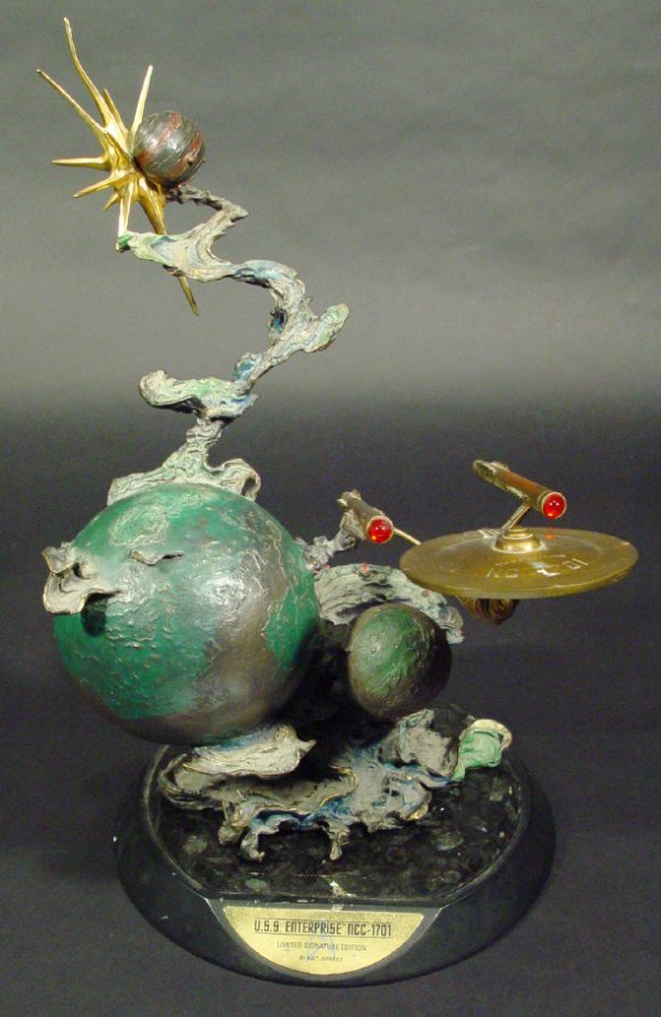 1586: Bronze limited edition Star Trek sculpture of the