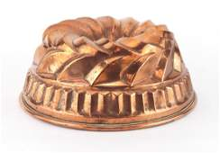 Large Victorian copper jelly mould, 27cm in diameter