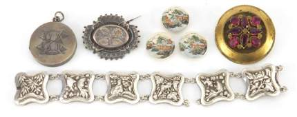 Antique and later jewellery, Chinese unmarked silver