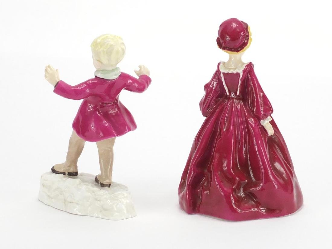 Two Royal Worcester figures, Grandmothers Dress 3081 - 2
