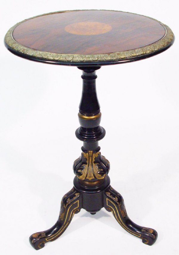 11: Victorian circular rosewood occasional table, the t
