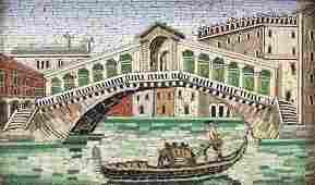 Early 20th century Italian micro mosaic panel depicting
