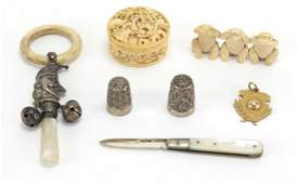 Antique and later objects including Chinese Canton