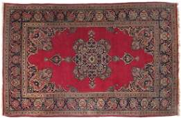 Persian Kashan rug with floral filled double headed