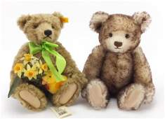 Two Steiff teddy bears with jointed limbs, Bear of the