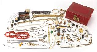Antique and later costume jewellery including Victorian