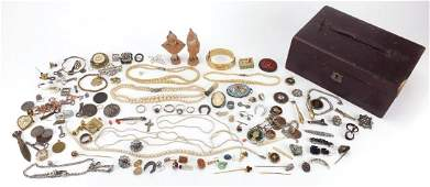 Antique and later jewellery including Victorian Pietra