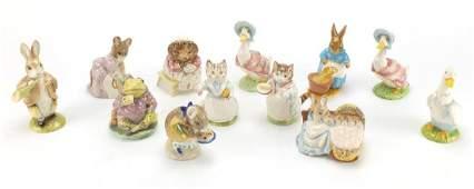 Twelve Royal Albert and Beswick Beatrix Potter figures