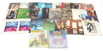 Vinyl LP's including Rick Wakeman , Yes, Steve Hackett,