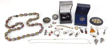 Vintage and later jewellery including micro mosaic