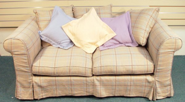 1203: Laura Ashley two seater settee with loose covers